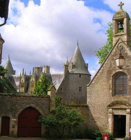 Castelo de Josselin: capela e castelo