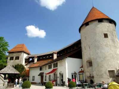 Bled: pátio interior do castelo
